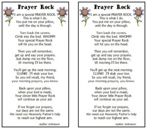 picture about Prayer Rock Poem Printable named Prayer rock-poem - LDS S.M.I.L.E.