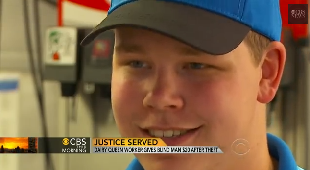 Dairy Queen Worker Gives a Blind Man $20 After Theft