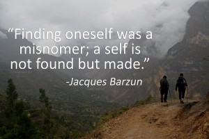 FInding oneself vs creating oneself