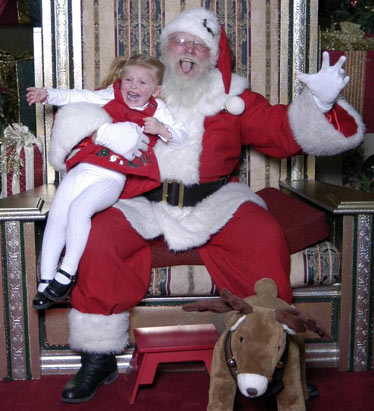 Sitting on Santa's lap (1)