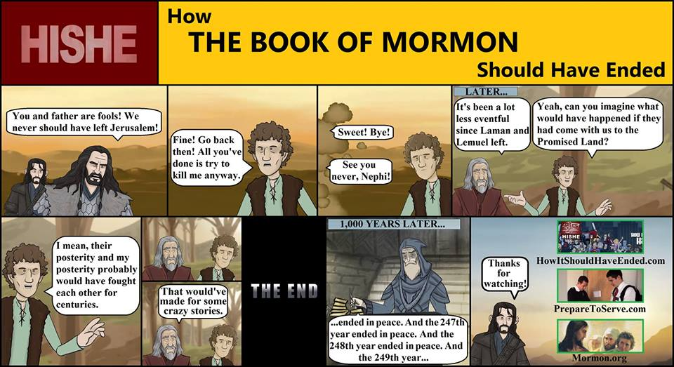 how the book of mormon should have ended meme