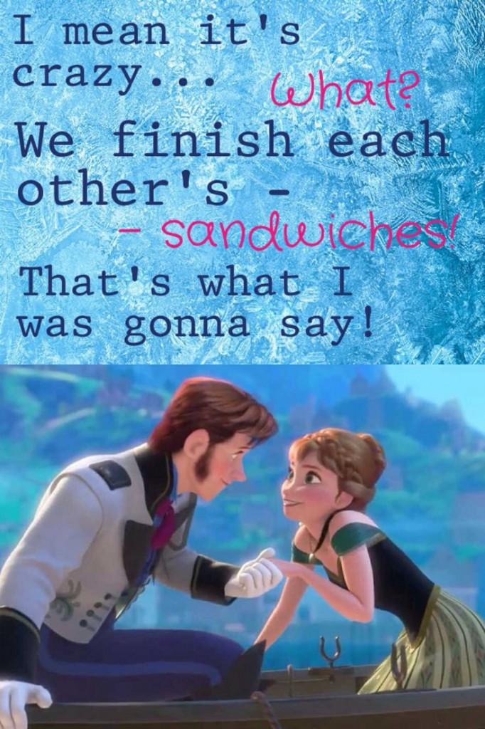 we finish each other's sandwhiches