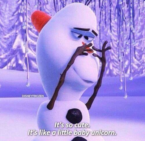baby unicorn froze