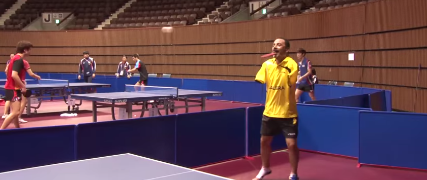 Armless Table Tennis Player Overcomes Adversity