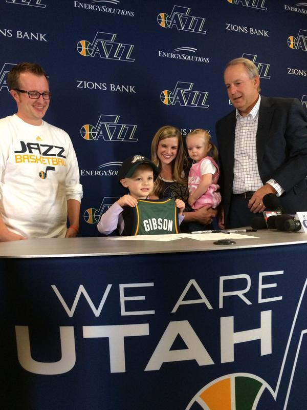 Utah Jazz signed 5-year-old Free Agent to a One Day Contract