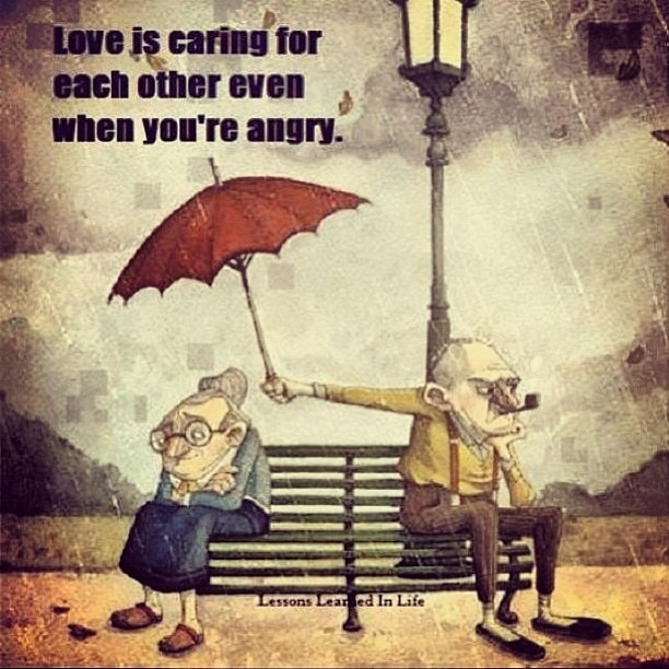 Love is caring for each other even when you're angry LDS SMILE
