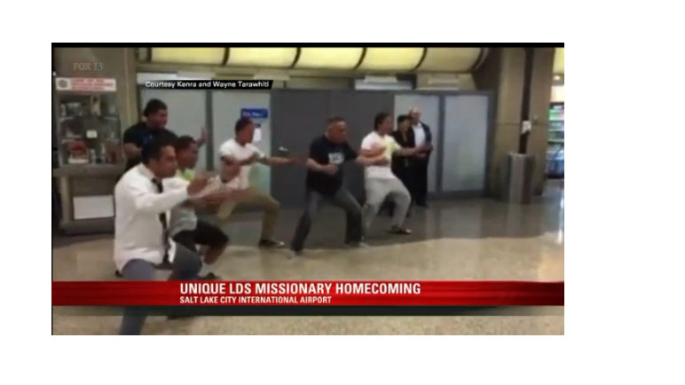 Missionary Welcomed Home at Airport with Polynesian Haka Dance