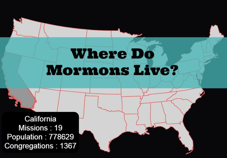 States with the Most Mormons