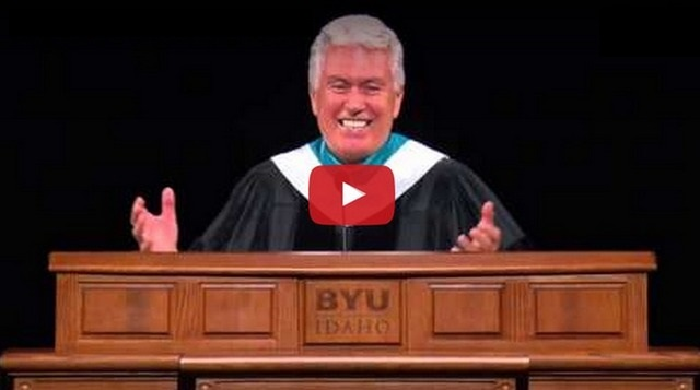 President Uchtdorf's Wardrobe Malfunction at BYU Idaho.