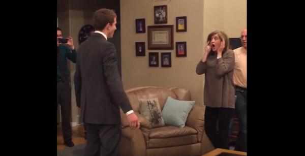 LDS missionary surprises mom with homecoming for her birthday