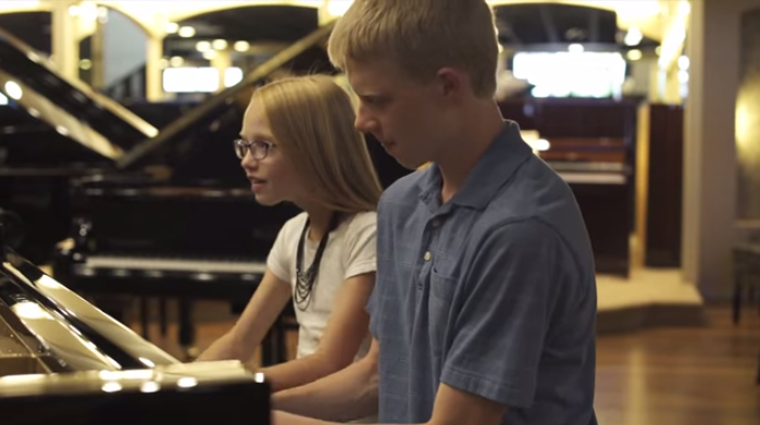 "2 Young LDS Pianists Cover ""Shut Up and Dance"" in an Amazing Music Video"
