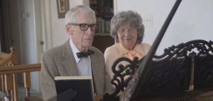 """""""UP"""" in Real Life: 80-Year-Old LDS Couple Plays Adorable Anniversary Piano Duet"""