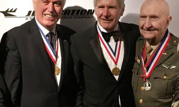 President Uchtdorf + Harrison Ford + Gail Halvorsen = Awesomeness!