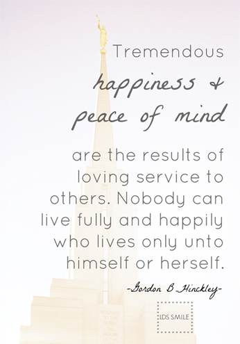 Gordon B. Hinckley Quote Happiness