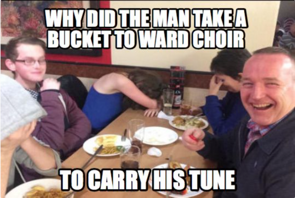 Ward Choir Dad Joke Meme