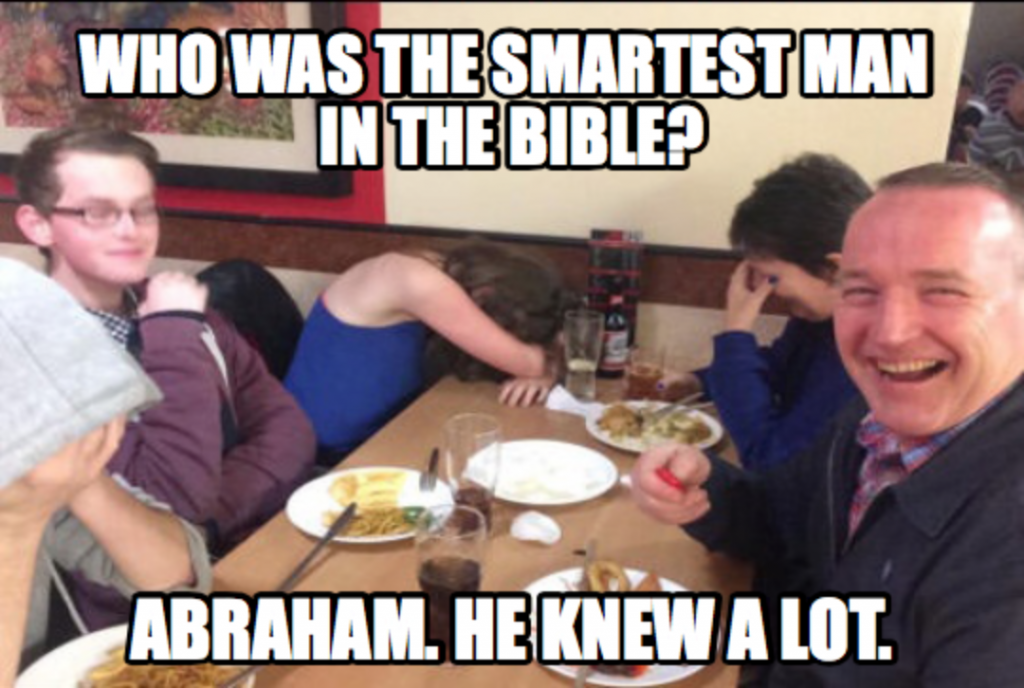 Abraham Dad Joke Meme