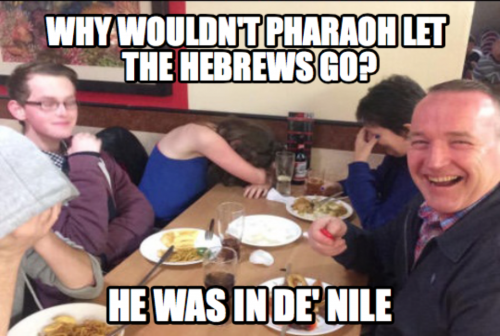 Hebrew Dad Joke Meme