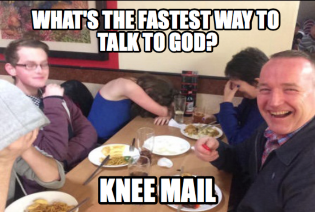 Prayer Dad Joke Meme