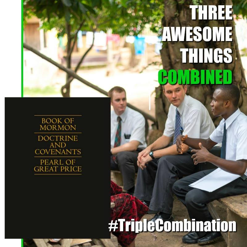 three things combined into one. Triple combination Mormon memes