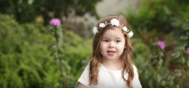 3 Year Old Claire Ryann Sings a Beautiful Rendition of Gethsemane