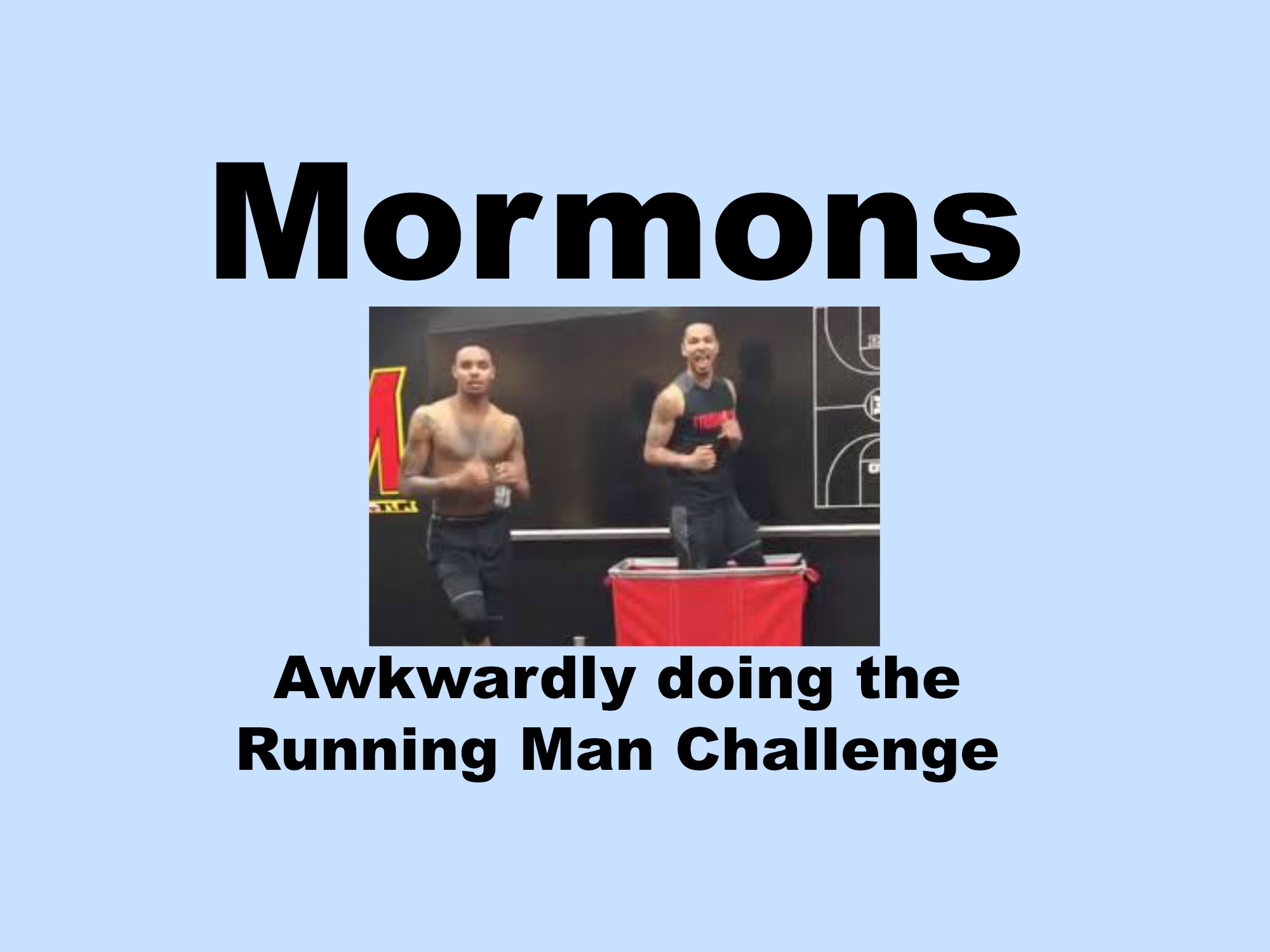 Mormons Awkwardly Doing The Running Man Challenge
