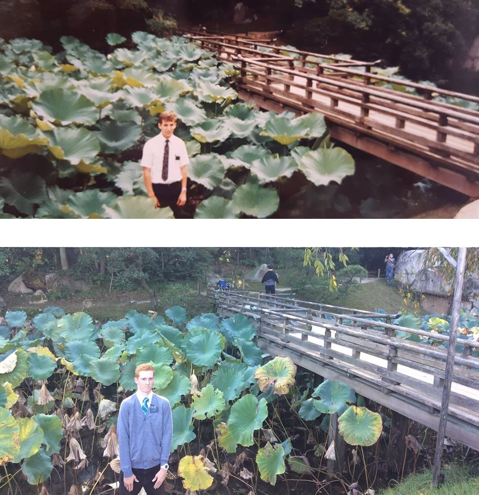 Father/Son Missionary Duo Take Pictures in the Same Places 28 Years Apart