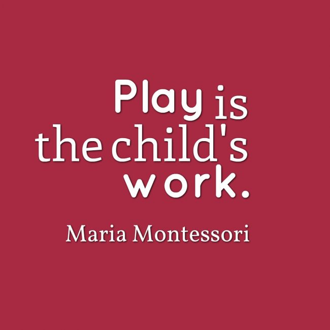 play child's work