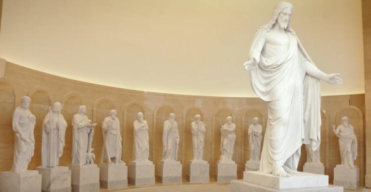 The Rome Italy Temple Receives 13 Beautiful Statues