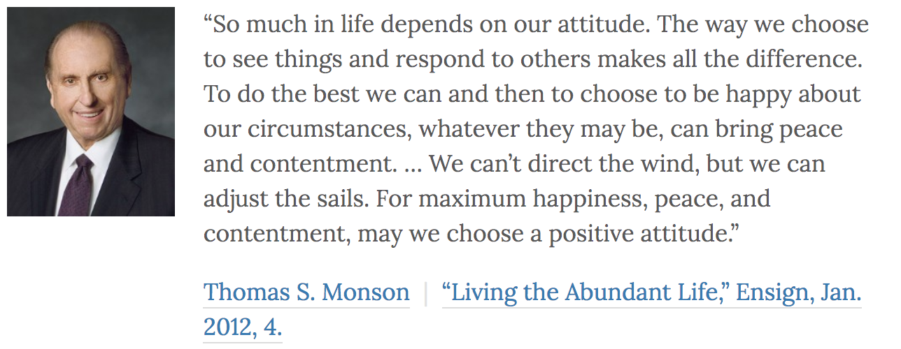President Monson quote from LDSQuotations.com