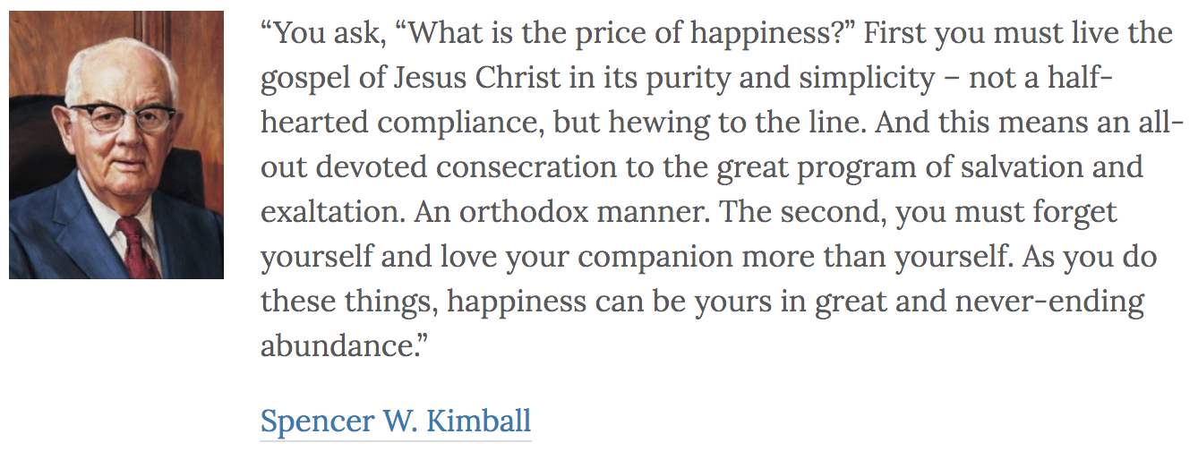 President Kimball quotes from LDSQuotations.com