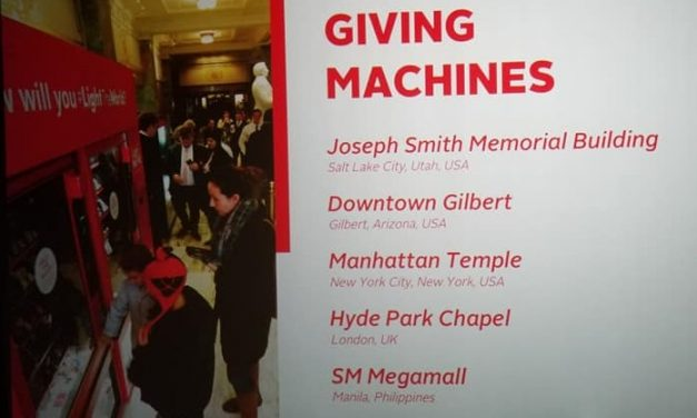 Everything There is To Know About the Giving Machine for the 2018 #LightTheWorld Campaign